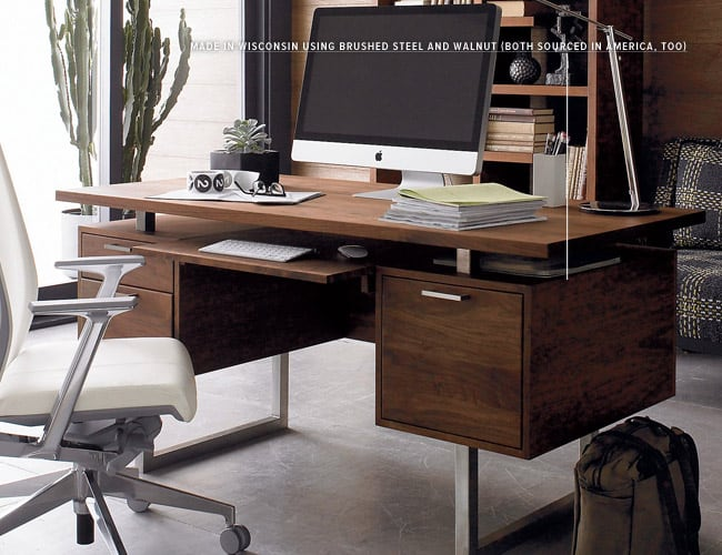 cool office space desk work